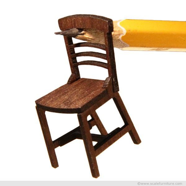 Scale Model Miniature Chair For Theatre Designers And