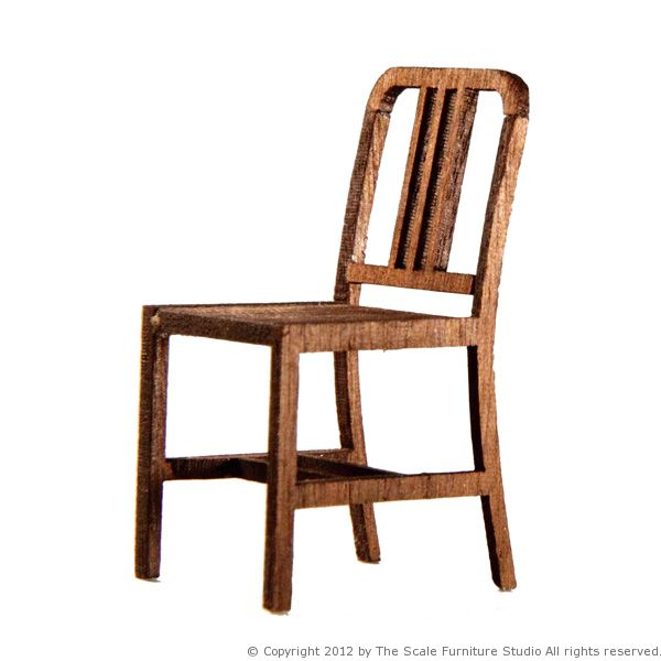Scale model furniture the hanau chair in 1 25 1 24 Scale model furniture