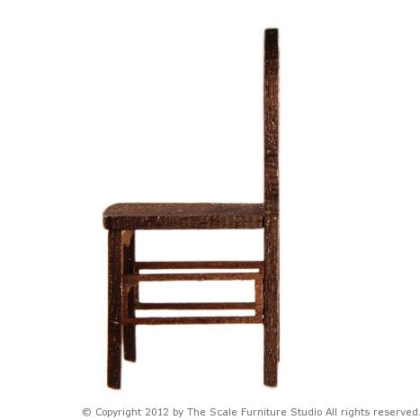 Scale model miniature chair in 1 25 or 1 24 the for Scale model furniture